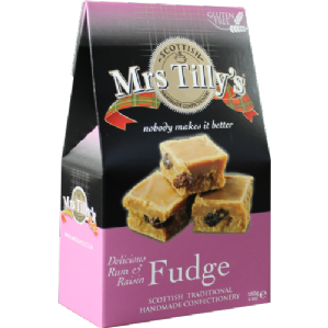 Mrs Tilly's Rum And Raisin Fudge 150g